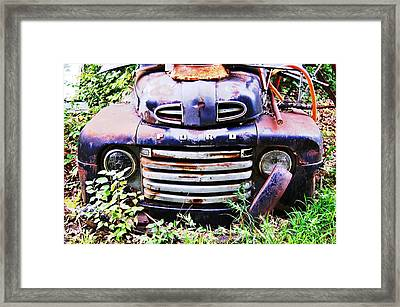 Rusty Blue Framed Print by Jame Hayes
