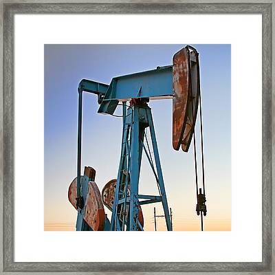 Rusty Blue Sunset Framed Print by Tony Grider