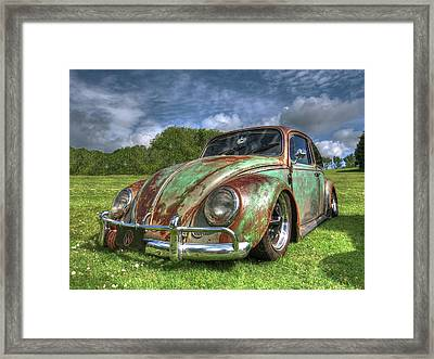 Rusty Bug - Vw Beetle Framed Print by Gill Billington