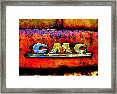 Rusty Framed Print by Dana  Oliver