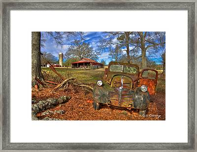 1947 Dodge Dump Truck Country Scene Art Framed Print by Reid Callaway