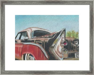 Rusty Fin Framed Print by Arlene Crafton