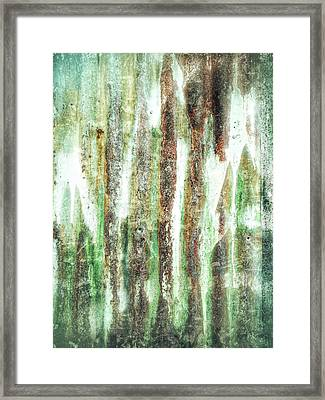 Rusty Metal Background  Framed Print by Tom Gowanlock
