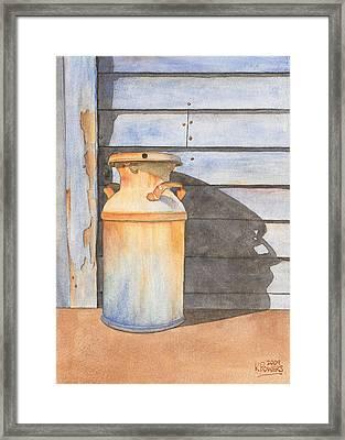 Rusty Milk Framed Print by Ken Powers