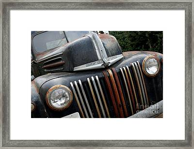 Rusty Old Ford Truck - Img4413 Framed Print by Wingsdomain Art and Photography