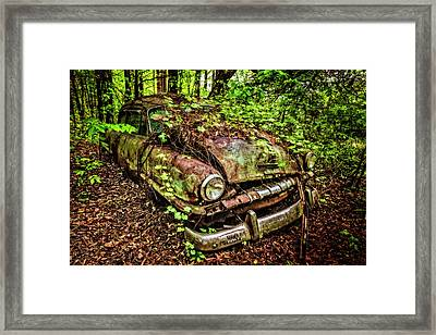 Rusty Plymouth Framed Print by Debra and Dave Vanderlaan