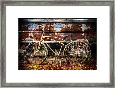 Rusty Ride Framed Print by Debra and Dave Vanderlaan