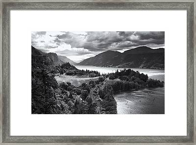 Ruthton Point Storm Framed Print by Jon Ares