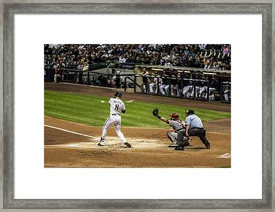 Ryan Braun  Framed Print by CJ Schmit