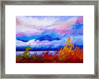 Rythmn Of The Arctic Framed Print by Marion Rose
