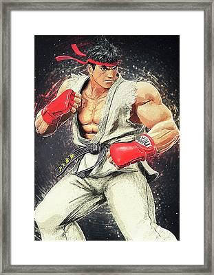 Ryu - Street Fighter Framed Print by Taylan Soyturk