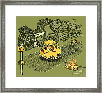 S Car Go Framed Print by Laura Brightwood
