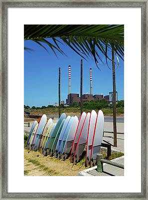S. Torpes Surfboards Framed Print by Carlos Caetano