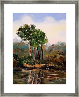 Sabal Palmettos Framed Print by Phil Burton