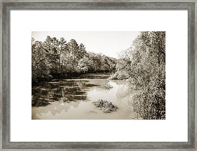 Sabine River Near Big Sandy Texas Photograph Fine Art Print 4081 Framed Print by M K  Miller