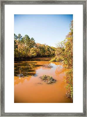 Sabine River Near Big Sandy Texas Photograph Fine Art Print 4082 Framed Print by M K  Miller