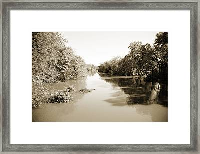 Sabine River Near Big Sandy Texas Photograph Fine Art Print 4086 Framed Print by M K  Miller