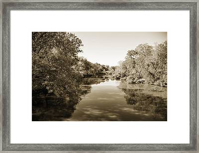 Sabine River Near Big Sandy Texas Photograph Fine Art Print 4089 Framed Print by M K  Miller