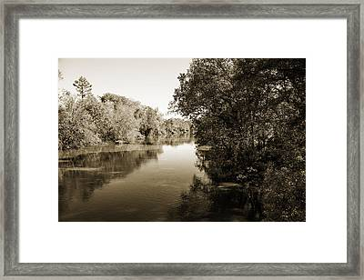 Sabine River Near Big Sandy Texas Photograph Fine Art Print 4092 Framed Print by M K  Miller