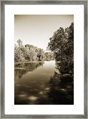 Sabine River Near Big Sandy Texas Photograph Fine Art Print 4095 Framed Print by M K  Miller