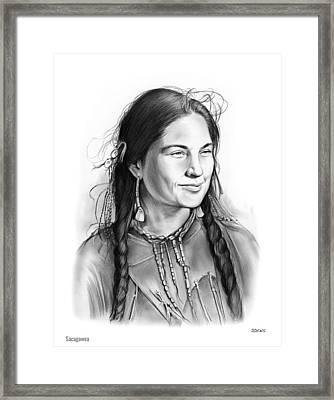 Sacagawea Framed Print by Greg Joens