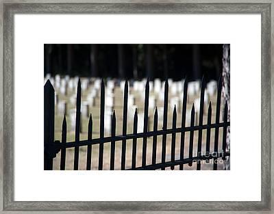 Sackets Harbor Military Cemetery Framed Print by Fred Lassmann