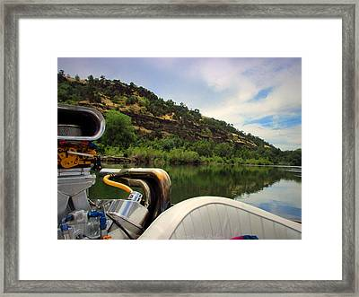 Sacramento River Beauty From The Boat Framed Print by Joyce Dickens