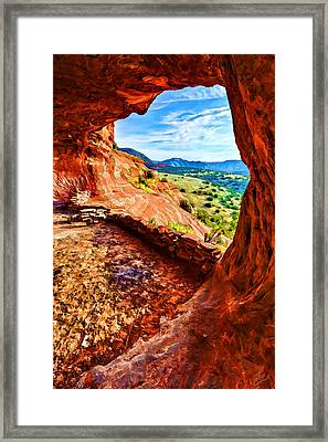 Sacred Ground - Shaman's Cave 2 Framed Print by Bill Caldwell -        ABeautifulSky Photography