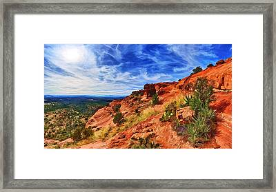 Sacred Ground - Shaman's Cave Approach Framed Print by Bill Caldwell -        ABeautifulSky Photography