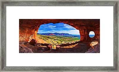 Sacred Ground - Shaman's Cave Framed Print by Bill Caldwell -        ABeautifulSky Photography