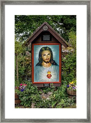 Sacred Heart Framed Print by Adrian Evans