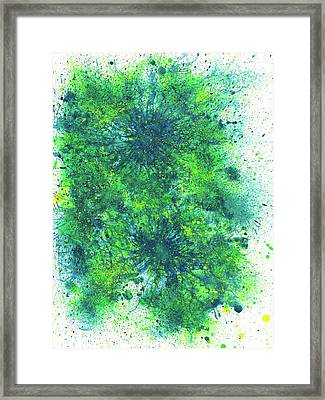 Sacred Token From The Emerald Tablet #603 Framed Print by Rainbow Artist Orlando L aka Kevin Orlando Lau