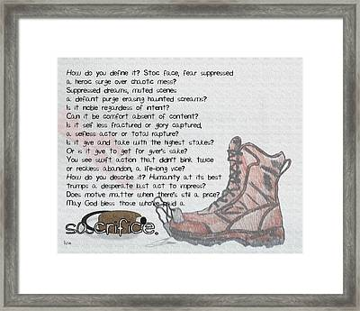Sacrifice Framed Print by Billy Cooper Rice