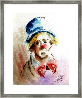 Sad Clown Framed Print by Steven Ponsford