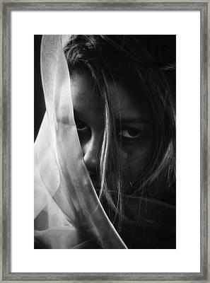 Sad Girl - Bw Edition Framed Print by Erik Brede