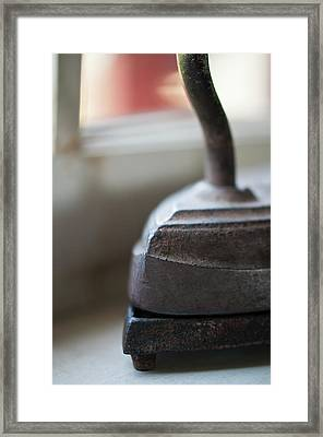 Sad Iron Framed Print by Wilma  Birdwell