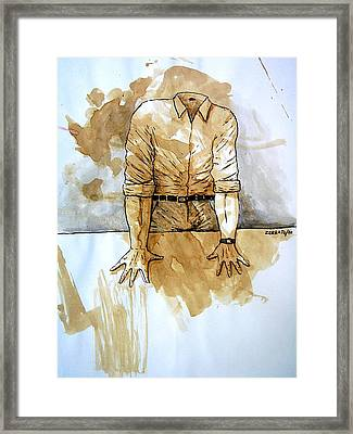 Sad Is Not Having Ideas For Change Framed Print by Paulo Zerbato