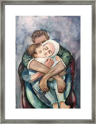 The Saddest Moment Framed Print by Laila Awad Jamaleldin