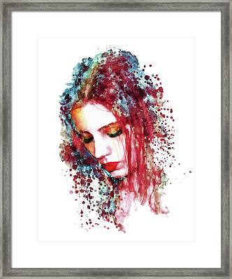 Sad Woman Framed Print by Marian Voicu