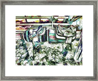 Saddle For A Horse Framed Print by Lanjee Chee