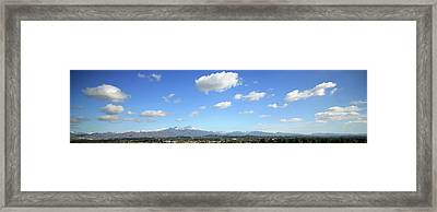 Saddleback Mountians Orange County California Framed Print by Michael Ledray