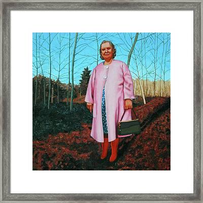 Sadie In Pink Framed Print by Allan OMarra