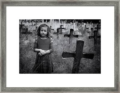 Sadness Framed Print by Mirjam Delrue