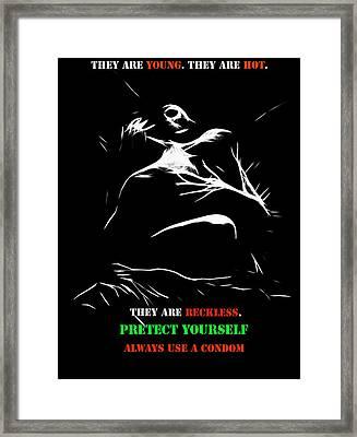 Safer Sex 3 Framed Print by Steve K