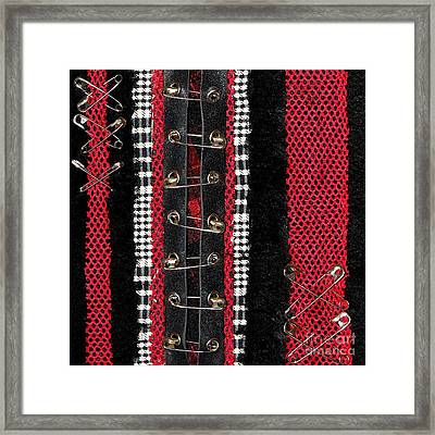 Safety Pins 2 Framed Print by Roseanne Jones