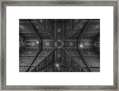 Sage Chapel Ceiling #3 - Cornell University Framed Print by Stephen Stookey