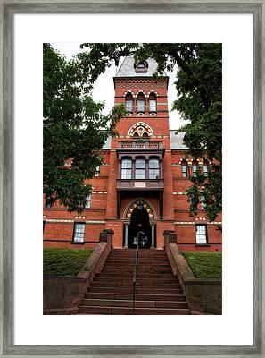 Sage Hall Cornell University Ithaca New York 03 Framed Print by Thomas Woolworth