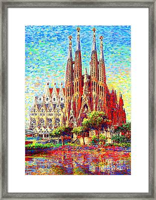 Sagrada Familia Framed Print by Jane Small