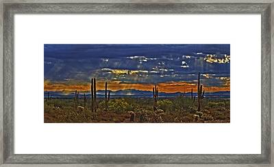 Saguaro Dawn Framed Print by Kenneth Roberts