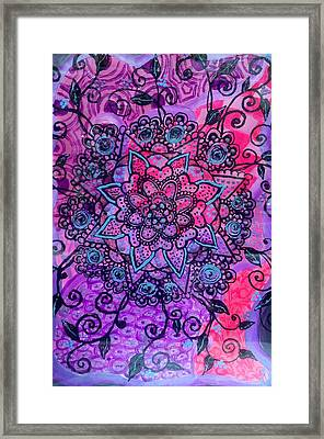 Sahasrara Chakra  Framed Print by Anastasia Vodyasova